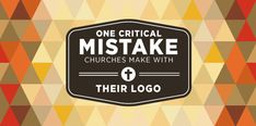 Church leaders should invest time into creating a great logo for their church. You hear any arguments from me about that. Design is the international language we all understand. Good or bad it says something about who or what our churches are.