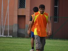 Drained out...!! - Had a tiring game - PCCare247 Football Tournament 2012