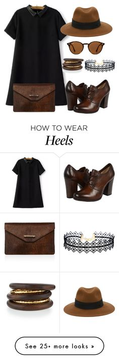 """""""Oxford heels."""" by fashionxx101 on Polyvore featuring M2Malletier, Frye, Ray-Ban, Maison Michel, LULUS and NEST Jewelry"""