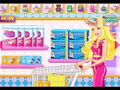 Disney Princess Barbie Baby Shopping - Barbie Games For Girls