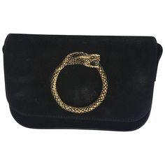 Saint Laurent Snake Shoulder Bag | From a collection of rare vintage shoulder bags at https://www.1stdibs.com/fashion/handbags-purses-bags/shoulder-bags/