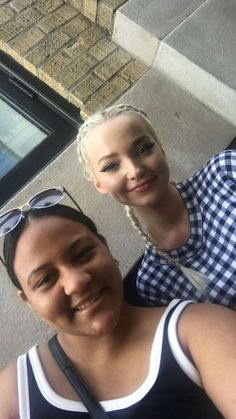 Dove Cameron at Apple Soho in New York City with fans.