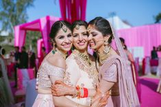 This Bride Designed The Most Picture-Perfect Wedding Outfits For Her Mother and Sister! Indian Wedding Planning, Wedding Planning Websites, Bride Sister, Sister Wedding, Desi Wedding, Wedding Gifts, Punjabi Wedding, Wedding Poses, Curvy Bride