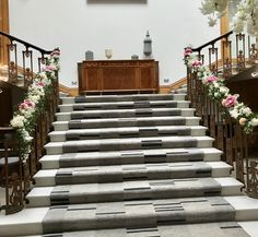 Staircase at Haigh Hall dressed with beautiful everlasting florals. Civil Ceremony, Bridal Flowers, Under Construction, Floral Wedding, Florals, Floral Design, Beautiful, Decor, Floral