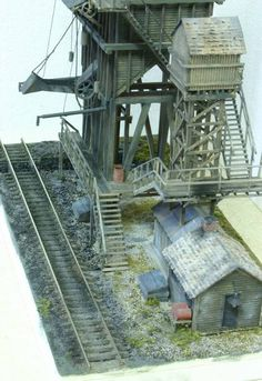 Coaling Tower Plans | 150 Ton Scratch Built coaling tower - The Whistle Post - Model ...