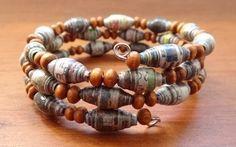 newspaper beads