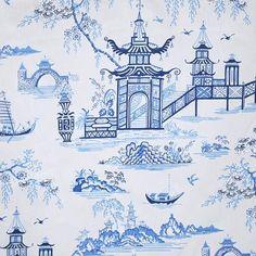 Blue Willow Wallpaper