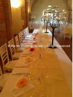 © We Do Weddings by A&J All rights reserved Imperial tob table beautifully set up by our caterer, and I am proud to say I was there with Mr J. placing the flowers  Beautiful shot by our official photographer Matteo.