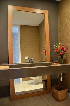 Resultado de imagem para imagens lavabo com bancada em concreto