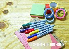 Tabbed Blog Notebook DIY