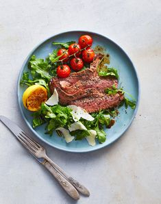 Flank Steak Tagliata with Arugula and Parmesan Jam Recipes, Beef Recipes, Dinner Recipes, Cooking Recipes, Quick Recipes, Spicy Broccoli, Flank Steak, Dinner Entrees, Arugula