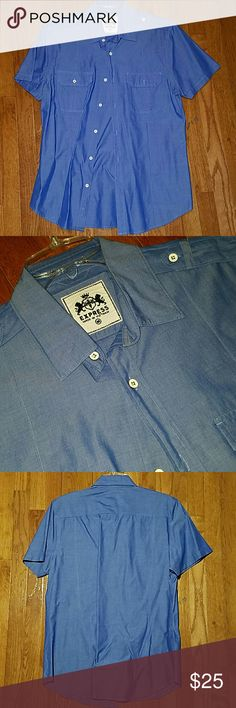 Express Short Sleeved Button Up Great condition, like new. Express Shirts Casual Button Down Shirts