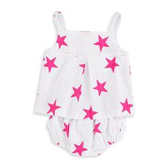 Smock Top and Ruffle Bloomer by Aden+Anais  #topandbloomer #adenanais #softbabygifts #rufflebloomer #stars