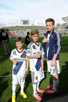 Beckham Boys ... Cruz, Romeo & Brooklyn