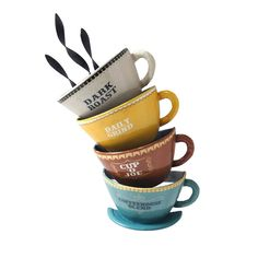 8 X Coffee Cups Verbiage Wall Décor Accent Furniture, Furniture Decor, Coffee Wall Art, Decoration, Accent Decor, Office Decor, Coffee Cups, Wall Décor, Mugs