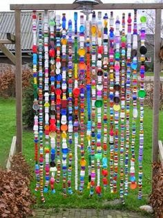 A bit of garden whimsy ... made of bottle caps | Outdoor Areas                                                                                                                                                                                 More