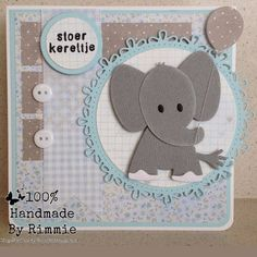 Handmade By Rimmie: mei 2015 Baby Boy Cards, New Baby Cards, Pinterest Cards, Marianne Design Cards, Card Sentiments, Animal Cards, Baby Scrapbook, Cool Cards, Cards Diy
