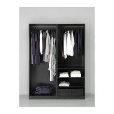 Ideal PAX Wardrobe Black brown mehamn white xx cm