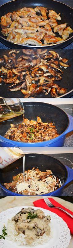 """Lea's Cooking: """"Mushroom Asiago Chicken Recipe"""""""