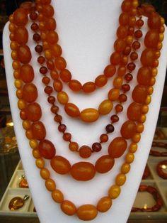 Amber five-strand necklace African Jewelry, Ethnic Jewelry, Antique Jewelry, Beaded Jewelry, Vintage Jewelry, Beaded Necklace, Strand Necklace, Necklaces, Jewellery
