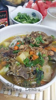 Sajian Dapur Bonda Sup Tulang Daging Lembu Enak Berganda Keenakannya Noodles