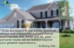To be successful in real estate, you must always and consistently put your clients.. #FF or #FollowFriday #RealEstate #property #maxproperties