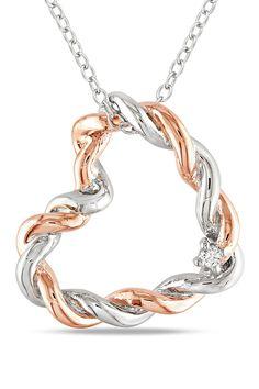 Diamond Heart Pendant Necklace.