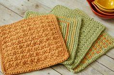 Textured Crochet Dishcloth Pattern - Petals to Picots