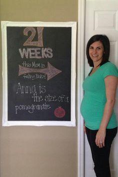 Pregnancy chalkboard #21weeks #kicks #chalkboard