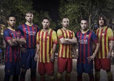 May 2013 - Nike Unveils New FC Barcelona Home and Away Kits. La Liga Champions FC Barcelona to wear bold new home and away kits for season. Barcelona Team, Camisa Barcelona, Barcelona Jerseys, Nfl Jerseys, Football Shirts, Equipe Do Barcelona, Premier League, Xavi Iniesta, Soccer Photography