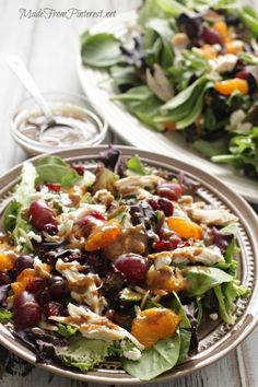 This Mediterranean Chicken Salad with Creamy Balsamic Vinaigrette is a fresh and easy 30 minute meal. Perfect blend of tarts, sweet and salt...