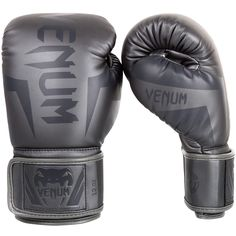 Venum Elite Boxing Gloves - Grey/Grey - 1