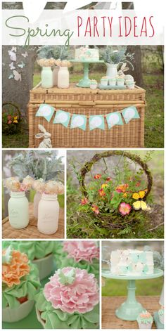 So many sweet details at this adorable Spring Picnic party! See more party ideas at CatchMyParty.com!