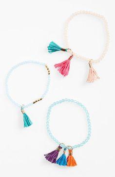 BP. Tassel Beaded Stretch Bracelet available at #Nordstrom