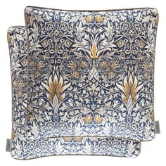 Morris & Co. Cushions - Filled Cushion Snakeshead Indigo/hemp 43 X 43 Couch Pillows, Cushions, Throw Pillows, William Morris, Cocktail Tables, Home Textile, Tapestry, Stylish, Fabric