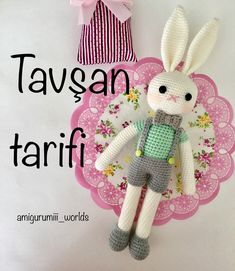 Regrann from – Good Morning😊 I liked this recipe, but there are some difficulties. , My threads are Nako Diamond and Yarn Art Crochet… Amigurumi Patterns, Knitting Patterns Free, Free Knitting, Crochet Patterns, Free Pattern, Crochet Bunny, Crochet Dolls, Free Crochet, Funny Toys