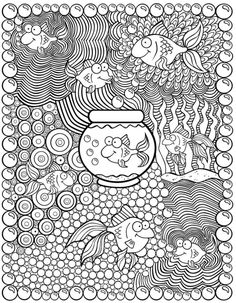 Welcome to Dover Publications Zentangle Doodle Coloring, Coloring For Kids, Free Coloring, Mandala Coloring, Coloring Book Pages, Printable Coloring Pages, Coloring Sheets, Mandalas Painting, Mandalas Drawing