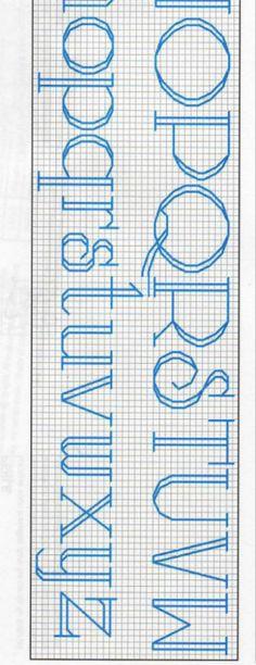 Cross-stitch Sled Stocking Font, part 2