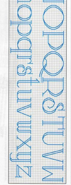 Free backstitch alphabet pattern pg 2 #stitching