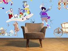 rascals blue, children's bedroom wallpaper by blackpop | notonthehighstreet.com