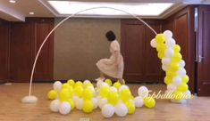 Balloon Arch Diy, Balloon Crafts, Balloon Columns, Balloon Bouquet, Balloon Garland, Rainbow Balloon Arch, Birthday Balloon Decorations, Birthday Balloons, Birthday Party Decorations