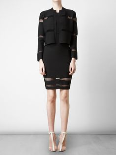 Alexander Wang - Stretch-knit Cardigan with Laddered Inserts 2