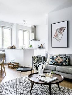 Decor for Small Living Room . 35 Awesome Decor for Small Living Room . 20 Best Small Apartment Living Room Decor and Design Ideas for 2019 My Living Room, Apartment Living, Home And Living, Coastal Living, Modern Living, Modern Wall, Modern Prints, Coffee Table For Small Living Room, Bedroom Modern