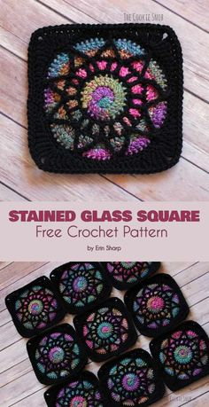 How to Crochet a Solid Granny Square - Crochet Ideas : Stained Glass Square Fre. How to Crochet a Solid Granny Square – Crochet Ideas : Stained Glass Square Free Crochet Pattern square blocks craft ideas Crochet Afghans, Crochet Motifs, Crochet Blanket Patterns, Crochet Stitches, Knit Crochet, Afghan Patterns, Block Patterns, Crochet Blankets, Knitting Patterns