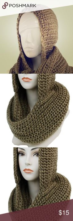 Crotchet Hooded Scarf 100% Acrylic soft scarf, just one left. New unbranded Accessories Scarves & Wraps