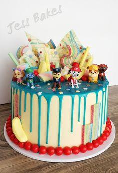 Rubble Paw Patrol Cake, Bolo Do Paw Patrol, Paw Patrol Torte, Paw Patrol Cupcakes, Birthday Drip Cake, Paw Patrol Birthday Cake, Novelty Birthday Cakes, 3rd Birthday, Caballo Spirit