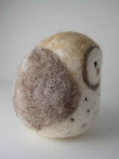 Your place to buy and sell all things handmade Felted Wool, Wool Felt, Little Barn, Black Spot, Sheep Wool, Bunny Rabbit, Needle Felting, Brown And Grey, Feather