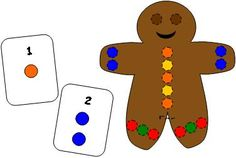 Gingerbread Man Pompom Fun~ Fine motor activity that could be adapted to different themes.