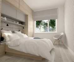 modern small bedroom furniture ideas wall storage ideas cabinets gray accents