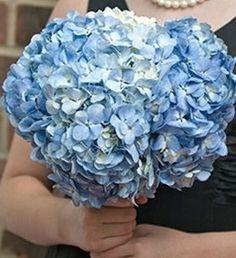 Bridal Bouquet light blue hydrangea Hydrangea by SilkFlowersByJean, $35.00